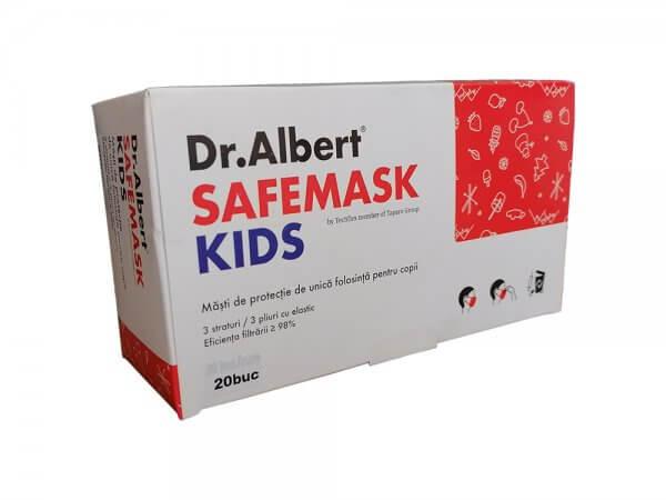 Măști de protecție unică folosință copii – Dr. Albert