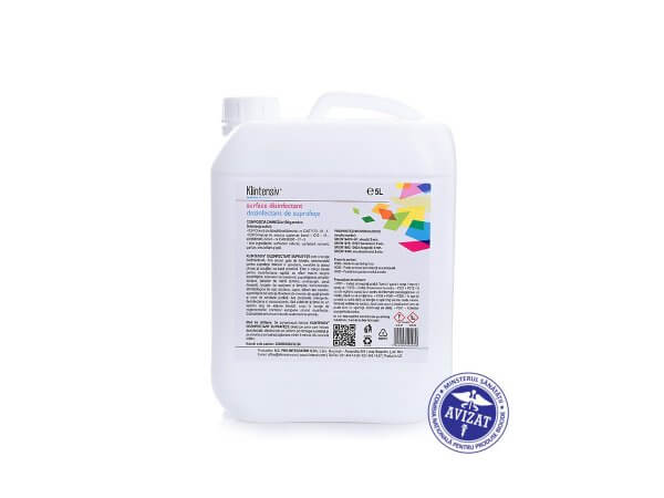 Dezinfectant suprafete gata de utilizare 5 litri KLINTENSIV