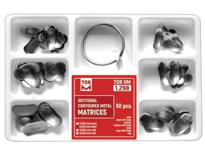 Kit 50 matrici secționale asortate 5mm hard + 1 inel TorVm 1.298