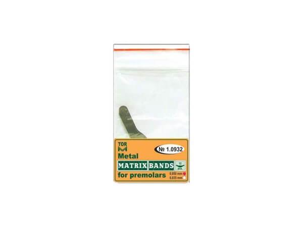 Matrice metalică tip bandă pentru dinți Premolari 0.050 mm-TorVm 1.0932