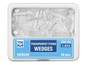 Pene interdentare medii plastic transparent 40 buc TorVm 1.812