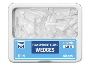 Pene interdentare mici plastic transparent 40 buc THIN
