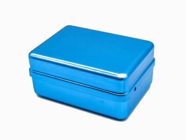 Cutie autoclavabila ace si freze 120 orificii-albastra