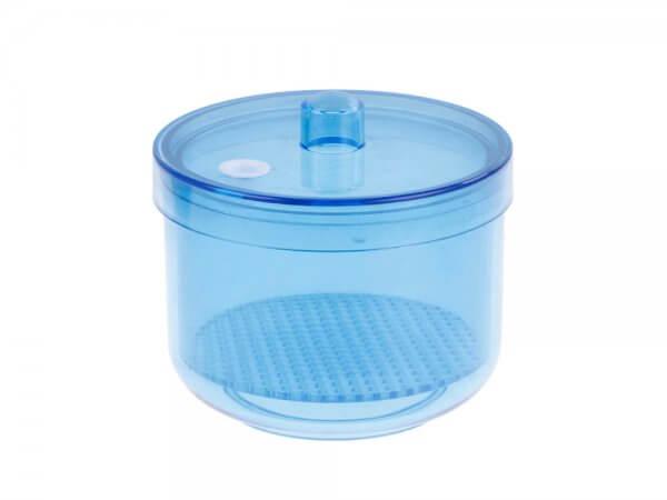 Cutie plastic autoclavabila pentru freze-albastra
