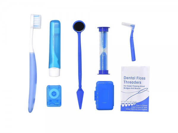 Kit ingrijire aparat ortodontic-albastru