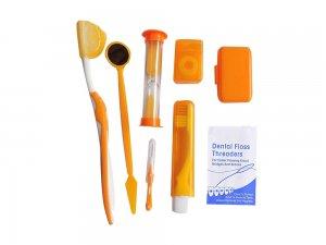 Kit ingrijire aparat ortodontic-portocaliu