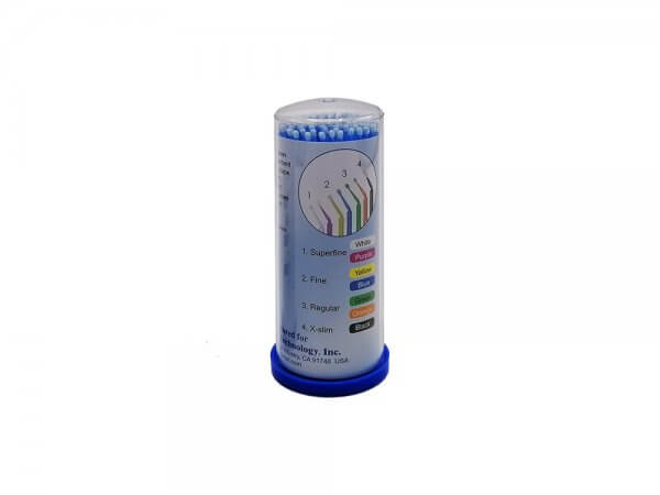 Micro aplicatoare solutii dentare TPC-albastru-fine