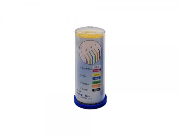 Micro aplicatoare solutii dentare TPC-galben-fine