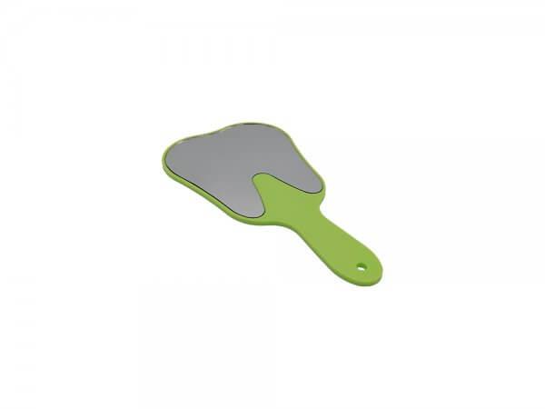 Oglindă cu mâner în formă de dinte - verde